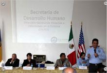 Fotos de la reunion con el Secretario de Desarollo Humano-Miguel Angel Garcia