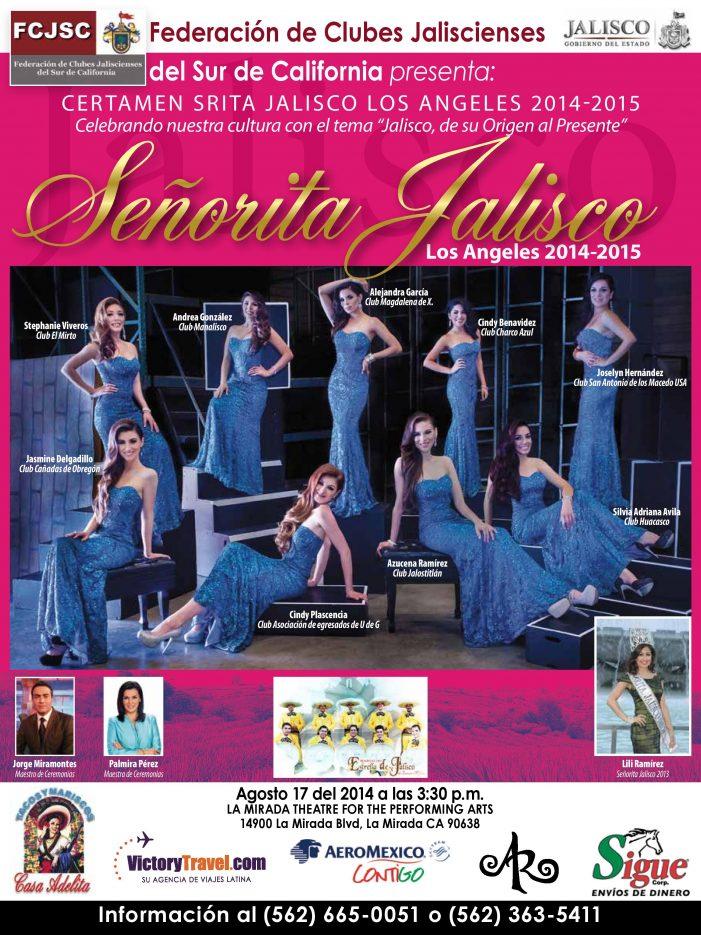 Certamen Srita Jalisco Los Angeles 2014-2015